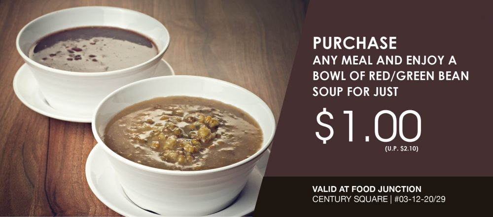 Red/Green Bean Soup for just $1.00!