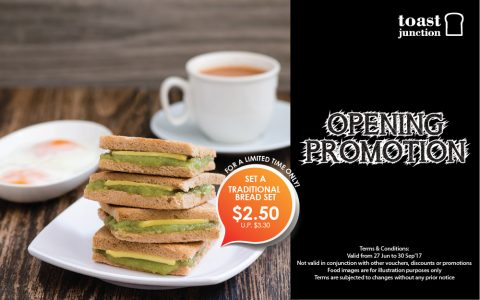 Opening Promotion | Traditional Bread Set A at only $2.50!