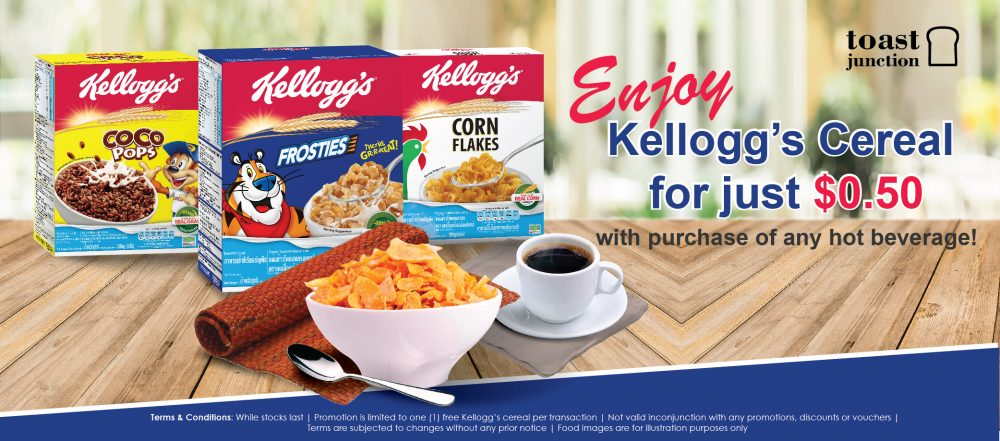 Enjoy Kellogg's Cereal for just $0.50!