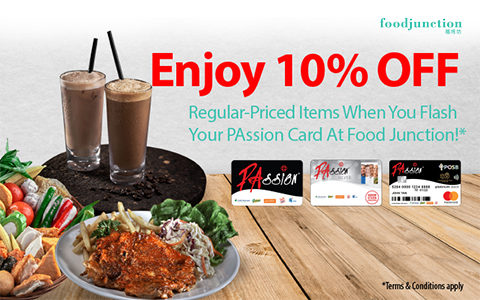Flash your PAssion Card and enjoy 10% OFF regular-priced items!