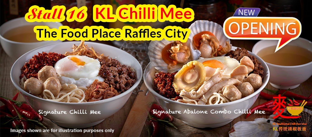 Newly Opened KL Chilli Mee | The Food Place Raffles City