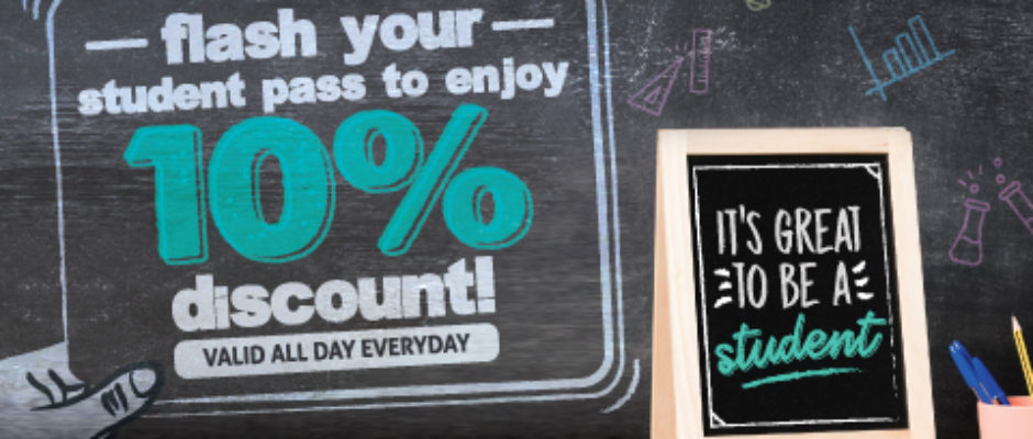 10% discount for Students