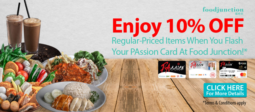 Food junction a network of food courts call us at 6563388213 flash your passion card and enjoy 10 off regular priced items forumfinder Choice Image