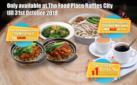 Promotions at The Food Place by Food Junction