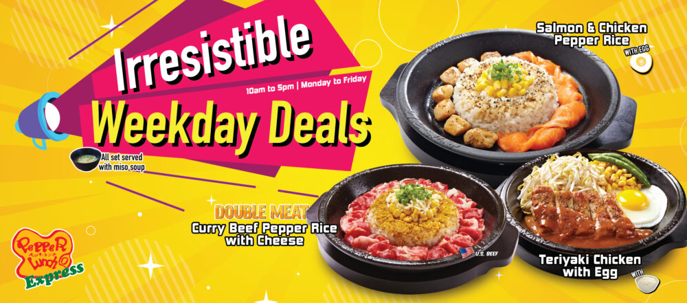 Pepper Lunch Weekday Deals